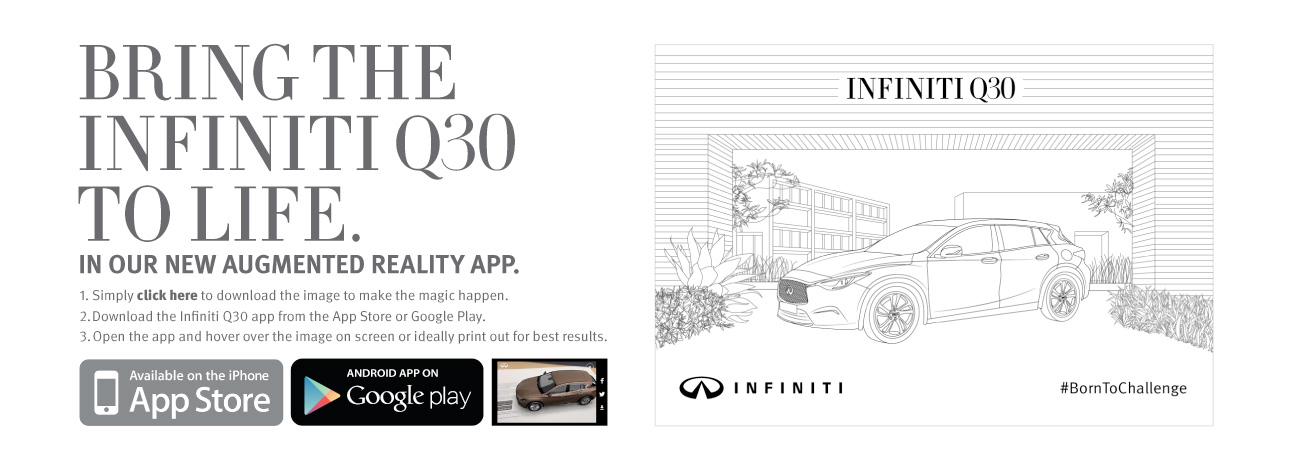Infiniti Q30 Augmented Reality Banner